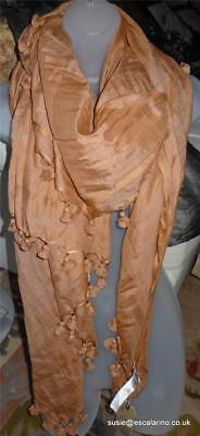 All Saints Fray Scarf BNWT £65 Cotton/Silk In Sunset Coral • 49£