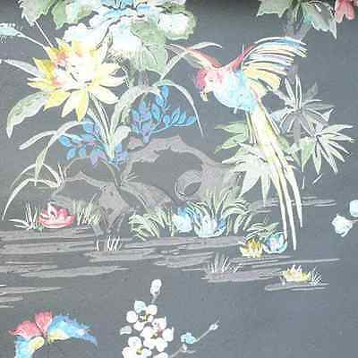£361.25 • Buy 1950s ORIGINAL BIRDS OF A FEATHER Stunning Vintage Wallpaper 1940s 50s