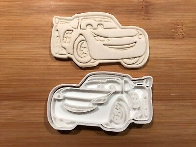 Lightning Mcqueen 009 Biscuit Cookie Cutter Fondant Cake Decorating UK Seller • 5£