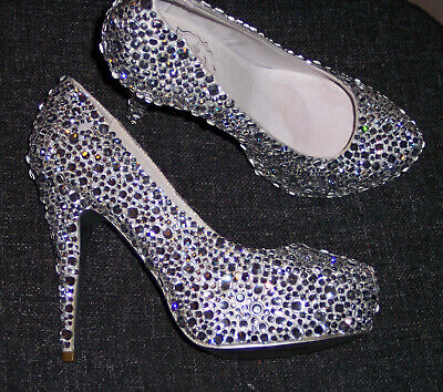 Diamond Crystal Court Shoes - Uk Size 5 (38) See Listing!!! • 139.99£