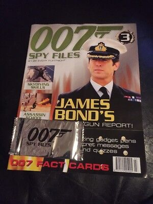 James Bond 007 Spy Files Magazine Issue No: 3 New With Cards • 2.75£