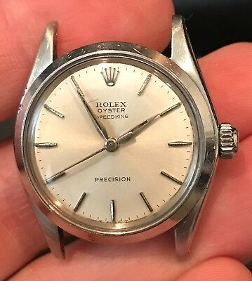 $ CDN2180.42 • Buy Rolex Vintage Oyster Speedking Precision 6430 Silver Dial HEAD ONLY 31MM
