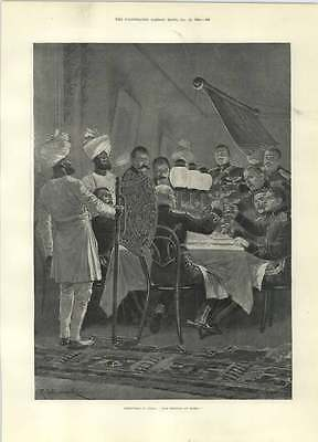 1894 Christmas In India Caton Woodville Christmas Buskers • 8£