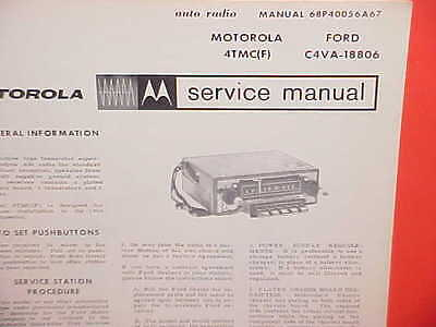 $17.99 • Buy 1964 Lincoln Continental Convertible Sedan Motorola Am Radio Service Shop Manual