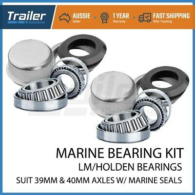AU23.99 • Buy 2x Marine / Boat Trailer LM Wheel Bearing Kits With CUPS Suits Holden Axles