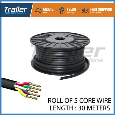 AU38.84 • Buy 30M X 5 Core Wire Cable Trailer Cable Tomotive Boat Caravan Truck Coil V90 PVC