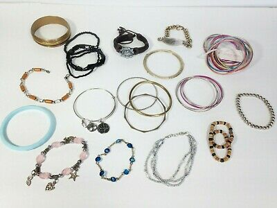 $ CDN7.75 • Buy Lot Of 36 Bracelets Metal, Plastic Costume Jewelry, Charms, Used, New