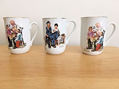 $ CDN29.66 • Buy Set Of 3 Norman Rockwell Coffee Mugs 2 Toymaker & 1 Lighthouse Museum Collection