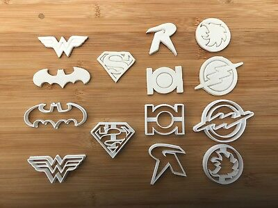 £12 • Buy Super Heroes 010 Cup Cake Or Cake Decoration Fondant Cookie Cutters