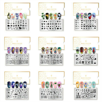 $1.99 • Buy BORN PRETTY Nail Stamping Plates Nail Art Stamp Stencil Templates  Tool