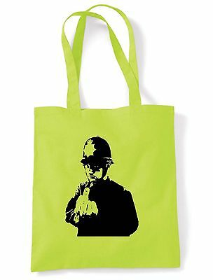 BANKSY RUDE COPPER TOTE  SHOPPING  SHOULDER BAG Police Cop - Choice Of Colours • 6.50£