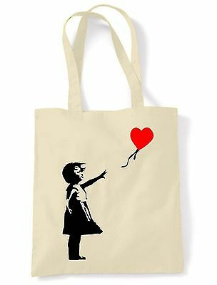 Banksy Girl With Heart Balloon Eco Friendly Tote Bag • 6.50£