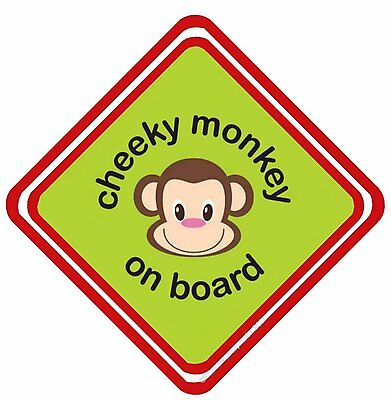 £5.99 • Buy Cheeky Monkey On Board Aluminum Car Window Sign Have It YOUR Way
