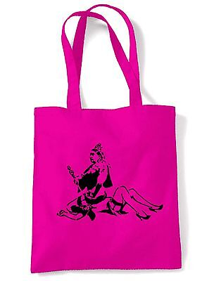 BANKSY QUEEN VICTORIA TOTE  SHOULDER  SHOPPING BAG - Choice Of Colours • 6.50£