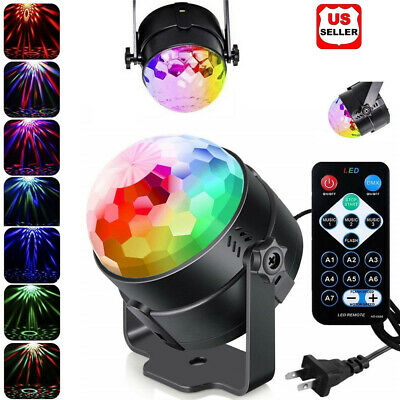 Disco Party Lights Strobe Led Dj Ball Sound Activated Bulb Dance Lamp Decoration • 8.98$