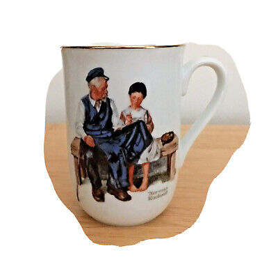 $ CDN21.29 • Buy Norman Rockwell The Lighthouse Keeper's Daughter Porcelain Coffee Mug 1982 ~ New