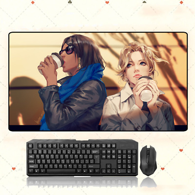 AU35.33 • Buy Overwatch Pharah And Mercy Extra Large Mouse Pad Free Shipping(31.5X15.7 In)