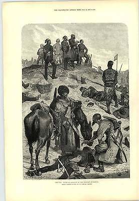 1877 R Caton Woodville After Assault At Plevna Artwork Engraving • 8£