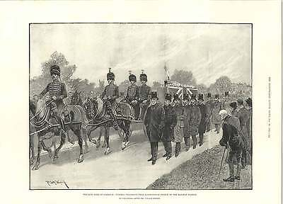 1892 Caton Woodville Funeral Procession Duke Of Clarence • 8£