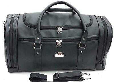 21  Faux Leather Hand Luggage Gym Holdall Cabin Flight Bag Overnight Case Travel • 19.99£