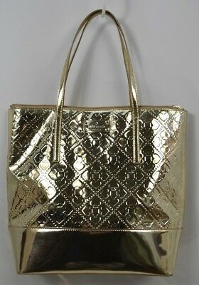 $ CDN131.75 • Buy KATE SPADE Mirror Gold Patent Leather Harmony Metro Tote Large Purse L $178 NEW