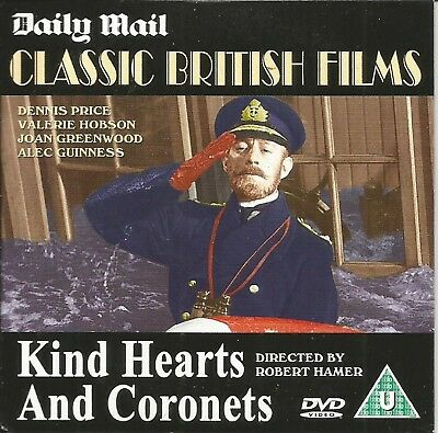 Kind Hearts And Coronets - Alec Guinness - Daily Mail Promo Dvd • 1.39£