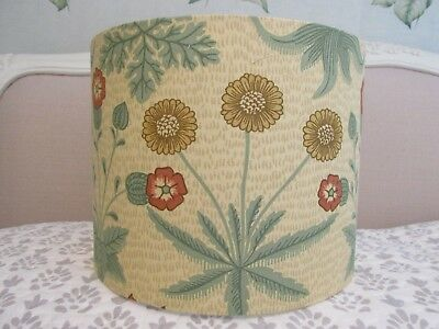 £35 • Buy Handmade Drum & Candle Clip Lampshades Morris Daisy Terracotta Gold Fabric