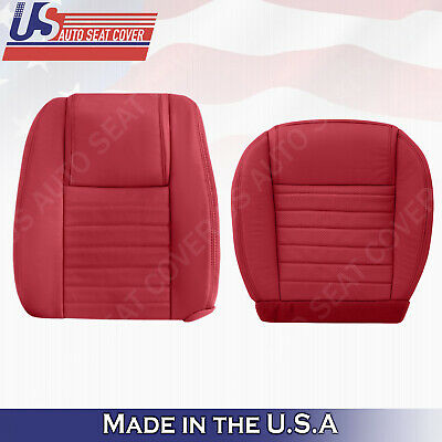 $342.54 • Buy 2005 2006 2007 2008 2009 Ford Mustang DRIVER Set Bottom & Top Leather Cover RED