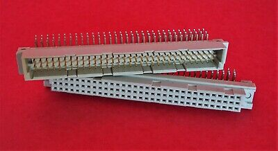 $50 • Buy Panduit 96 Pos Male & Female PCB Connector 3 Rows DIN Right Angle Solder 2 Pairs