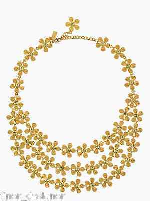 $ CDN253.68 • Buy NWT NEW Kate Spade New York Marguerite Floral 3 Triple Row Gold Necklace Jewelry