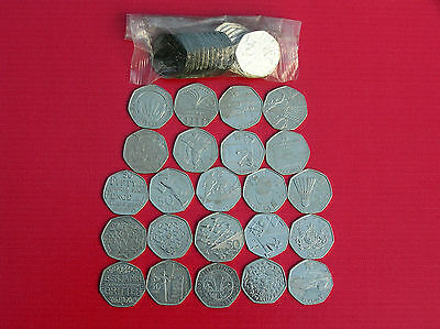 Wide Selection Of Circulated 50p (fifty Pence) Coins- Great British Coin Hunt • 3£