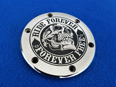 $109 • Buy Polished Generator Cover  RIDE FOREVER  For Suzuki M109R / M1800R.