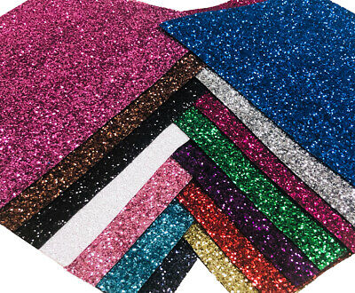 Premium Chunky Glitter Fabric A4 A5 Sheets Sparkly Vinyl Craft Wall Decor Bow • 1.97£