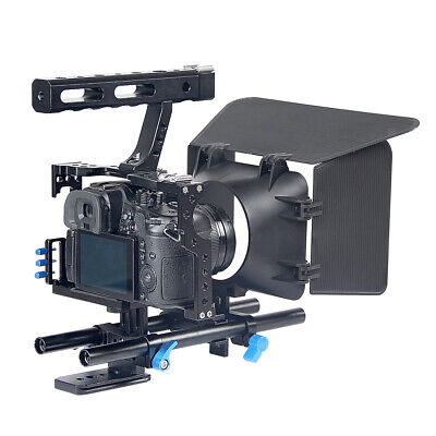 DSLR Rig Video Making Stabilizer Matte Box Follow Focus For Sony A7 A7R #1 • 62.18£