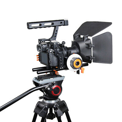 DSLR Rig Video Making Stabilizer Matte Box Follow Focus For Sony A7 A7R #2 • 59.43£