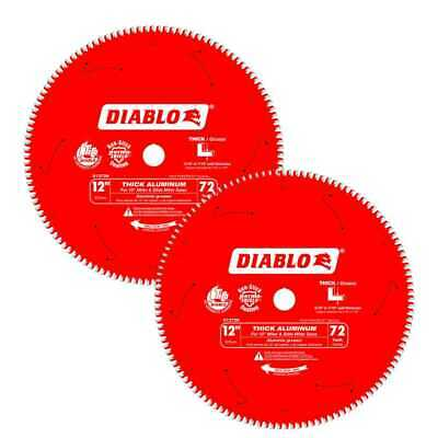 Diablo D1272N Thick Aluminum Cutting Saw Blade 12  X 72 Tooth 2x New • 119.50$