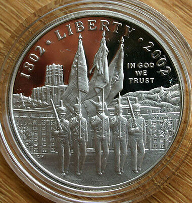 $37.95 • Buy 2002 W West Point Military Academy PROOF Silver One Dollar $1 COIN ONLY