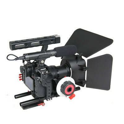 DSLR Rig Video Making Stabilizer Matte Box Follow Focus For Sony A7 A7R #3 • 70£