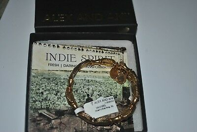 £31.94 • Buy Alex And Ani RETIRED RG Bracelet Gold Heart's Beat Wrap Indie Collection NWT