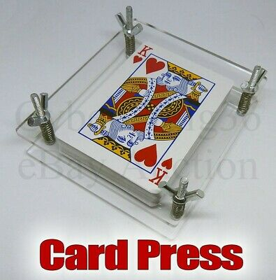 Playing Card Press Clamp Deck Protector Pack Display Stand Flatten Tarot & Game • 9.95£