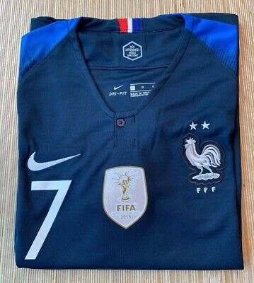 d2a004b4534 France Griezmann Jersey 2 Stars Men's 2018 World Cup Soccer Champion Size L  • 54.90$