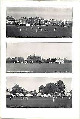 1895 Cricket DERBYSHIRE : CAMBRIDGE UNIVERSITY GROUND • 8£