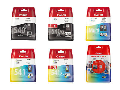 Boxed Canon PG540 CL541 PG540XL CL541XL Ink Cartridges For PIXMA MG3650 Printer • 19.95£