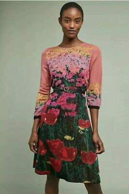 c8f513c7fe94 NWT NEW Anthropologie Lisse Sweater Dress Size XS By Aldomartins Floral  $228 • 149.98$