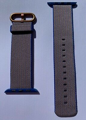 $ CDN64.96 • Buy Apple Watch Royal Blue Woven Nylon Rose Gold Buckle Series 0 1 2 3 42mm 4 5 44mm