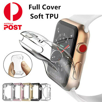 AU6.99 • Buy For Apple Watch Series 5 4 3 2 1 38/42mm 40/44mm IWatch Soft TPU Full Cover Case
