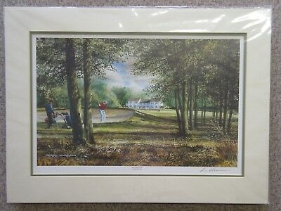 Over The Top By Terry Harrison - Golfing Fine Art Signed Print - 44 X 59 Cm • 24.99£