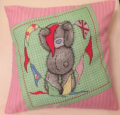 £5.99 • Buy Me To You Tatty Ted Vintage Bunting Handmade Cushion Cover/Pillow Case 12x12inch