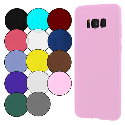 $ CDN3.93 • Buy Silicone Phone Case For Samsung Galaxy S8 / Galaxy S8+ Plus Back Soft Cover TPU