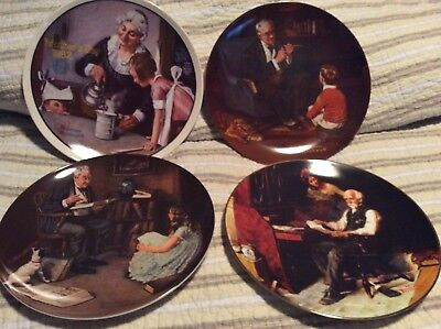 $ CDN29.39 • Buy Lot Of 4 Norman Rockwell's Knowles Collectible Plates. Mother's Day, Tycoon